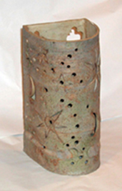 12x6x6 pearl grey wash star & moon (now more holes) $185